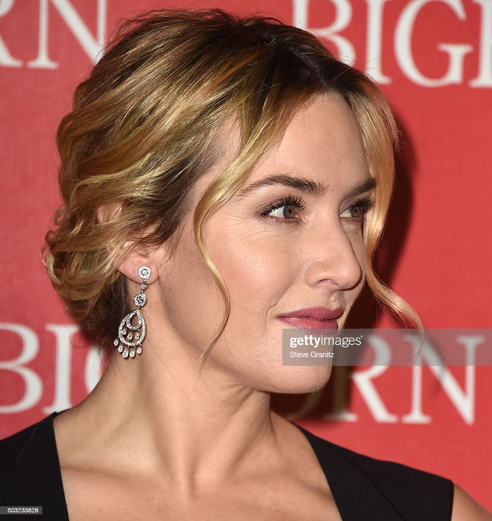 Kate Winslet arrives at the 27th Annual Palm Springs International Film Festival Awards Gala at Palm Springs Convention Center on January 2 2016 in...