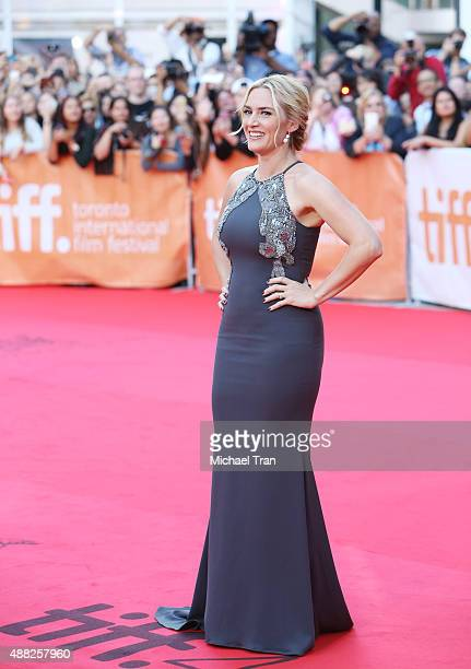 Kate Winslet arrives at 'The Dressmaker' premiere during 2015 Toronto International Film Festival held at Roy Thomson Hall on September 14 2015 in...