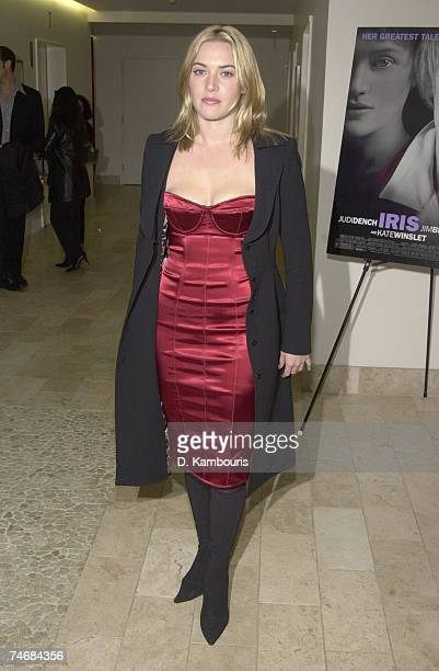 Kate Winslet at the Paris Theatre in New York City New York