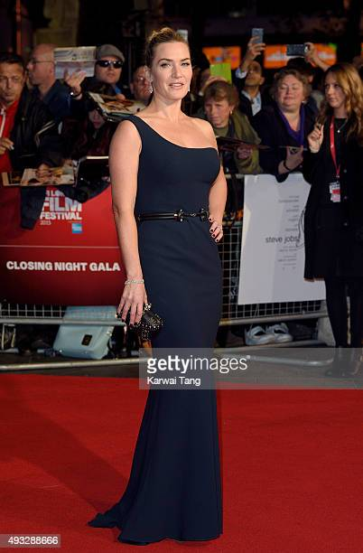Kate Winslet attends a screening of 'Steve Jobs' on the closing night of the BFI London Film Festival at Odeon Leicester Square on October 18 2015 in...