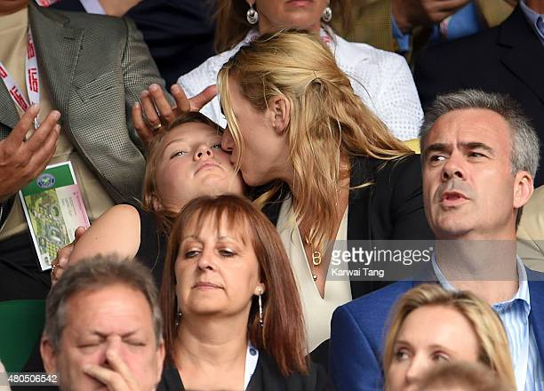 Kate Winslet attends day 13 of the Wimbledon Tennis Championships at Wimbledon on July 12 2015 in London England