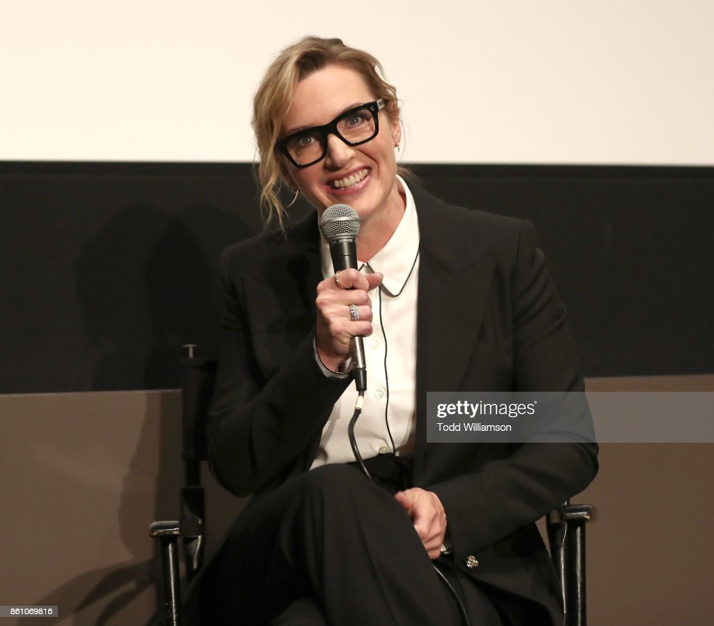 Kate Winslet attends NYFF's 'A Conversation With Kate Winslet' at Francesca Beale Theater on October 13, 2017 in New York City.