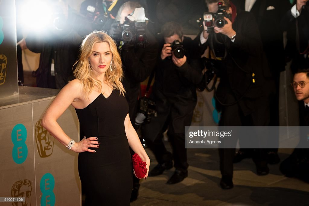 Kate Winslet attends the EE British Academy Film Awards at The Royal Opera House on February 14, 2016 in London, England.