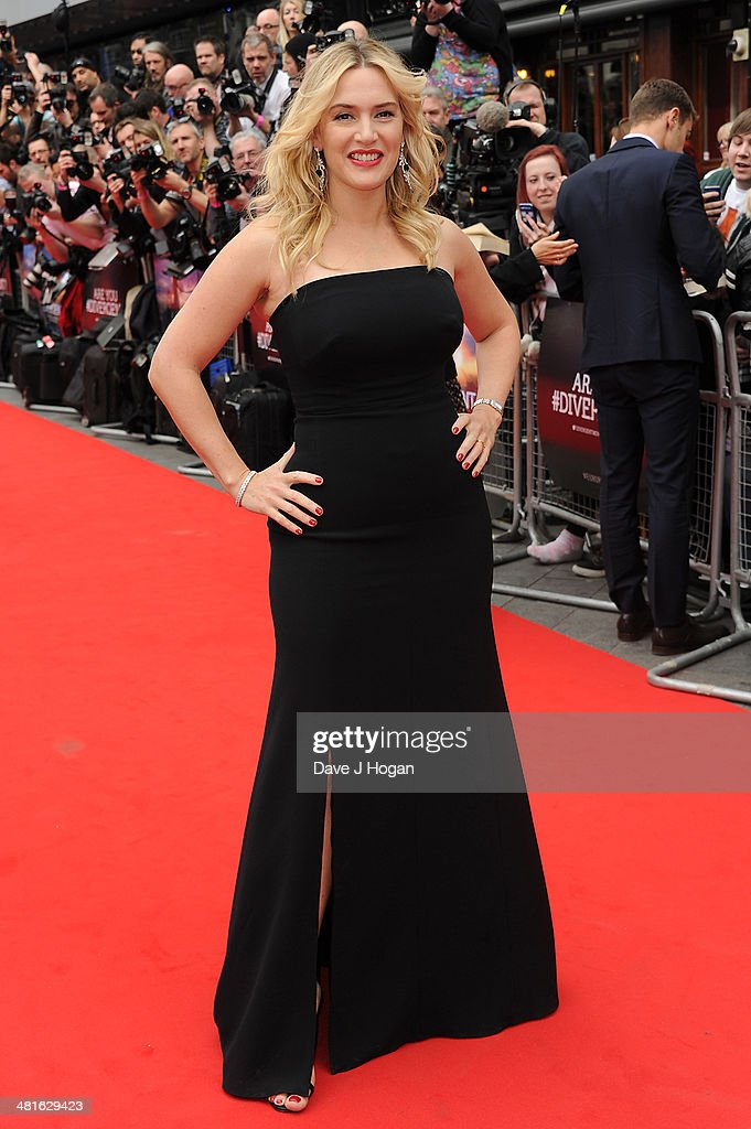 Kate WInslet attends the European premiere of 'Divergent' at Odeon Leicester Square on March 30, 2014 in London, England.