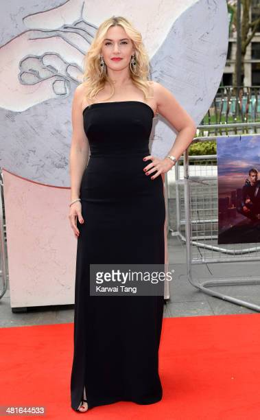 Kate Winslet attends the European premiere of 'Divergent' at Odeon Leicester Square on March 30 2014 in London England