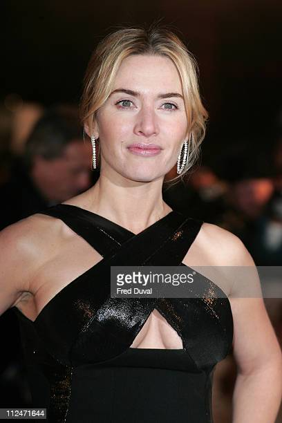 Kate Winslet attends the European Premiere of Revolutionary Road at the Odeon Leicester Square on January 18 2009 in London England