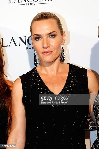 Kate Winslet attends the Lancome 80th anniversary party as part of Paris Fashion Week Haute Couture Fall/Winter 2015/2016 on July 7 2015 in Paris...