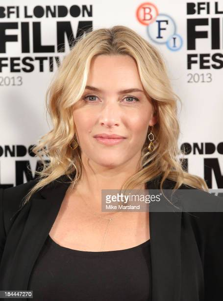 Kate Winslet attends the photocall for 'Labor Day' during the 57th BFI London Film Festival at The Mayfair Hotel on October 14 2013 in London England