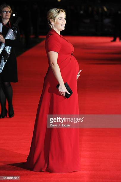 Kate Winslet attends the premiere of 'Labor Day' during the 57th BFI London Film Festival at The Odeon Leicester Square on October 14 2013 in London...