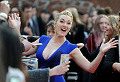 Kate Winslet attends the UK premiere of 'A Little Chaos' at ODEON Kensington on April 13 2015 in London England