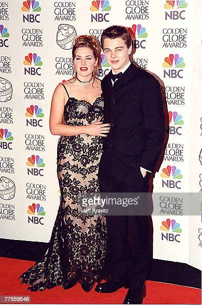 Kate Winslet Leonardo DiCaprio at the 1998 Golden Globe Awards in Los Angeles