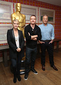 Kate Winslet Michael Fassbender and Jeff Daniels attend the Academy of Motion Picture Arts and Sciences hosts an official Academy screening of 'Steve...