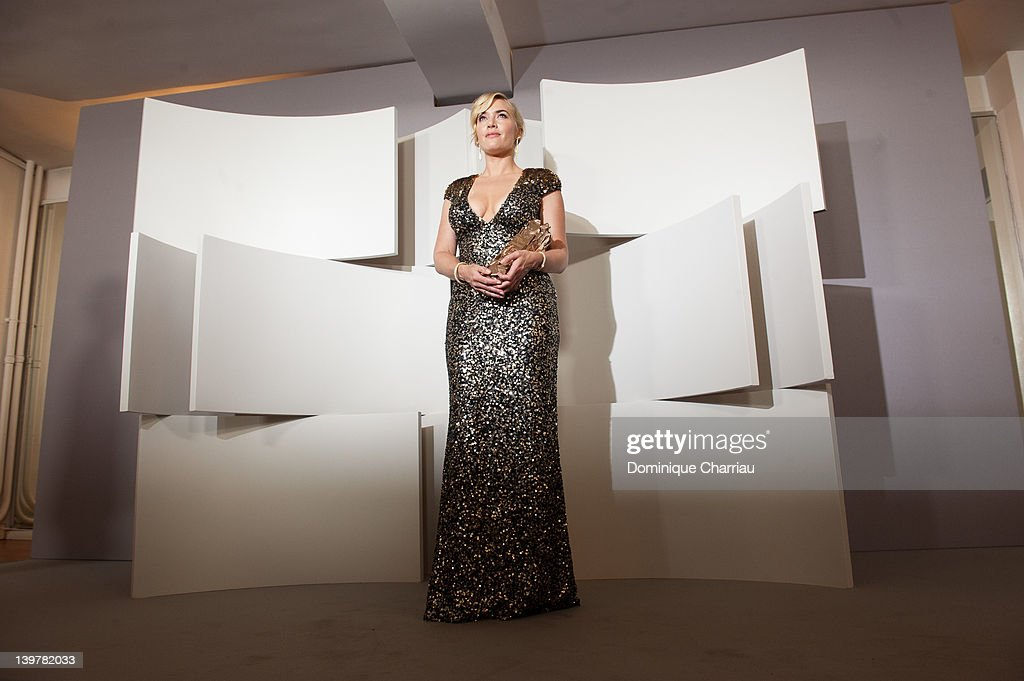 Kate Winslet poses after receiving an honorary Cesar Award during the 37th Cesar Film Awards at Theatre du Chatelet on February 24, 2012 in Paris, France.