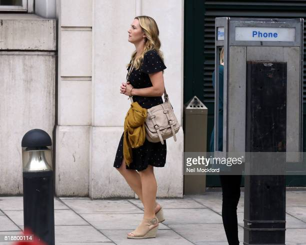 Kate Winslet seen on the filmset of 'The Mountain Between Us' on July 19 2017 in London England