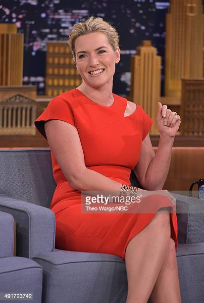 Kate Winslet Visits 'The Tonight Show Starring Jimmy Fallon' at Rockefeller Center on October 7 2015 in New York City