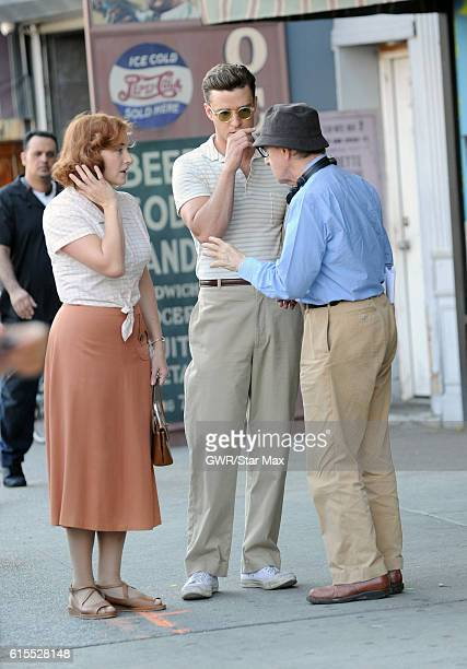 Kate Winslet Woody Allen and Justin Timberlake are seen on October 18 2016 in New York City