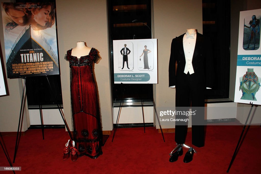 Kate Winslet's and Leonardo DiCaprio's costumes from the movie 'Titanic' at the 2013 NYWIFT Designing Women Awards at The McGraw-Hill Building on May 23, 2013 in New York City.