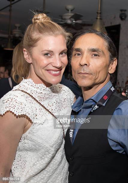 Katee Sackhoff and Zahn McClarnon attend the closing night Battlestar Galactica reunion and afterparty presented by Entertainment Weekly and SYFY...