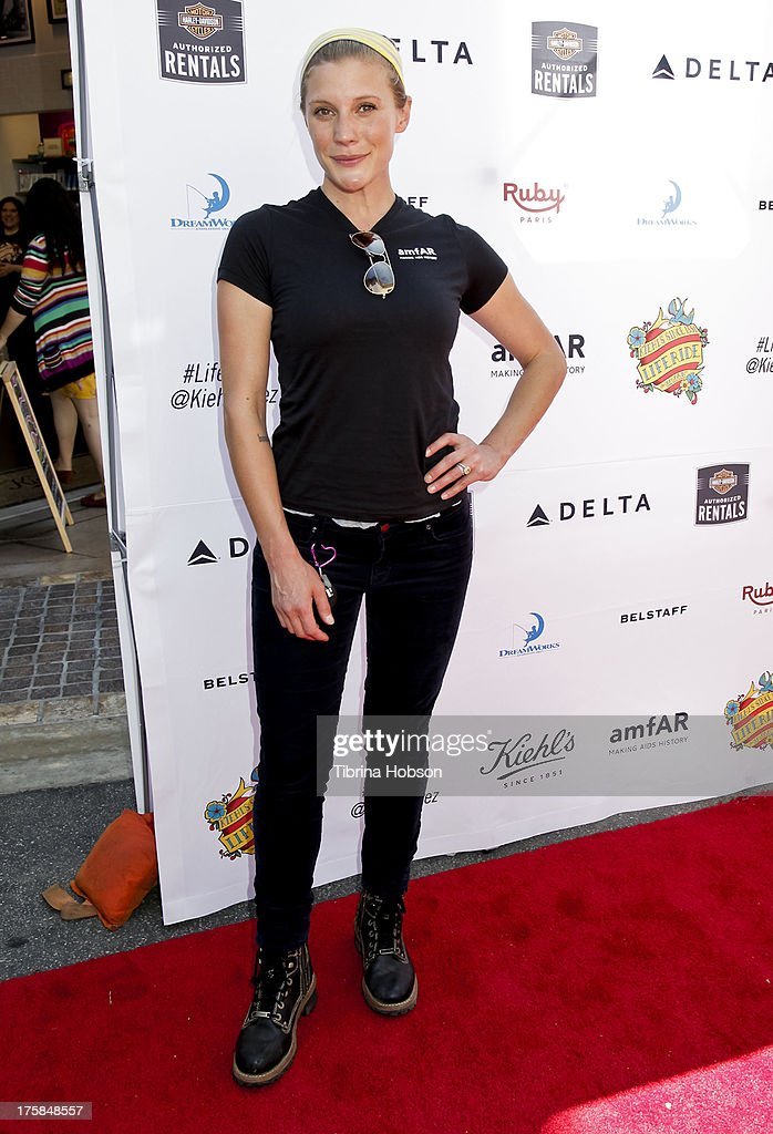 Katee Sackhoff attends the 4th annual Kiehl's LifeRide for amfAR at The Grove on August 8, 2013 in Los Angeles, California.