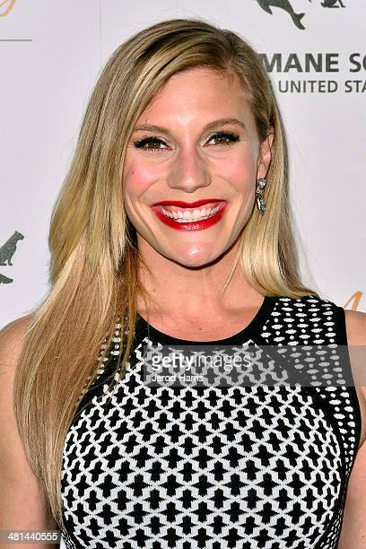 Katee Sackhoff attends the Humane Society of the United States 60th Anniversary Benefit Gala at The Beverly Hilton Hotel on March 29 2014 in Beverly...