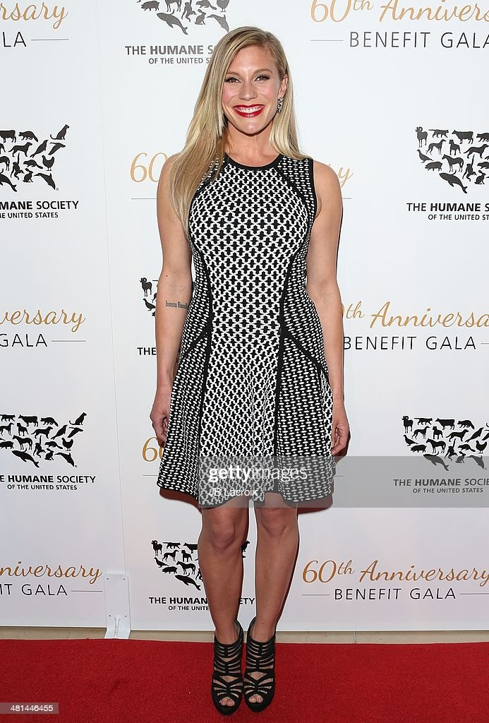 Katee Sackhoff attends The Humane Society Of The United States 60th Anniversary Benefit Gala held at The Beverly Hilton Hotel on March 29, 2014 in Hollywood, California.