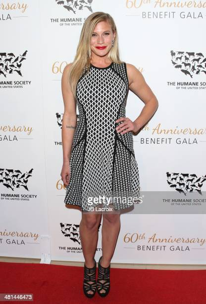 Katee Sackhoff attends The Humane Society Of The United States 60th Anniversary Benefit Gala held at The Beverly Hilton Hotel on March 29 2014 in...