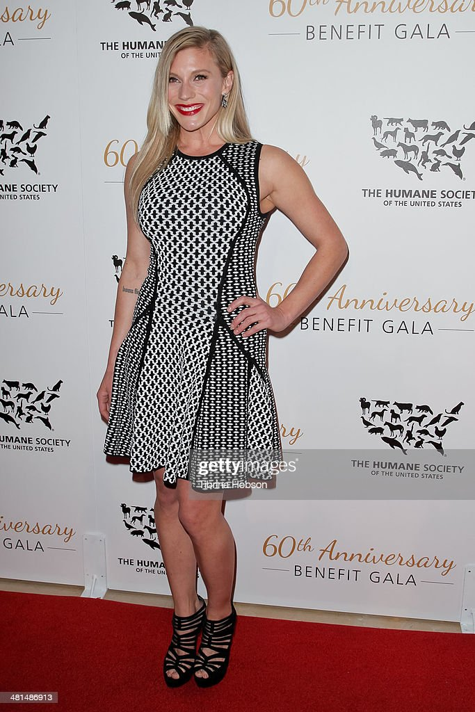 Katee Sackhoff attends the Humane Society's 60th anniversary benefit gala at the Beverly Hilton Hotel on March 29, 2014 in Beverly Hills, California.