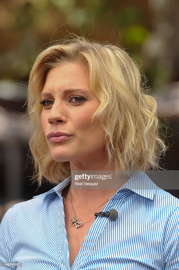 Katee Sackoff visits 'Extra' at The Grove on July 25, 2012 in Los Angeles, California.