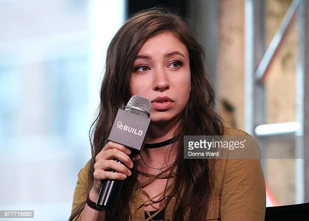 Katelyn Nacon appears to discuss 'Tagged' during the AOL BUILD Seriesat AOL HQ on July 19 2016 in New York City