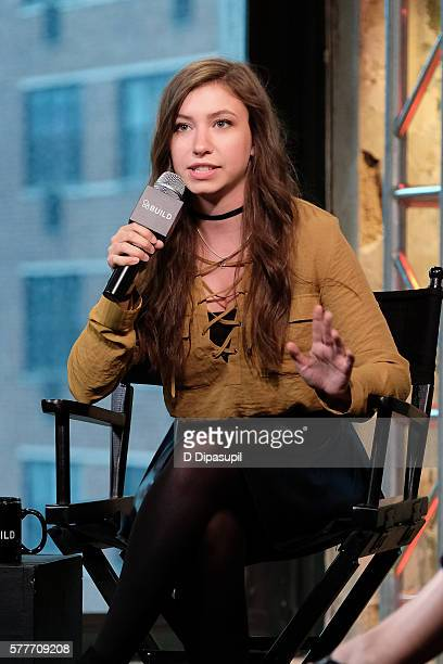 Katelyn Nacon attends the AOL Build Speaker Series to discuss go90's 11part thriller 'T@gged' at AOL HQ on July 19 2016 in New York City