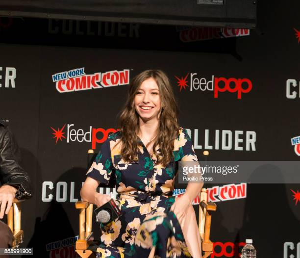 Katelyn Nacon attends The Walking Dead panel at The Theater at Madison Square Garden during Comic Con 2017