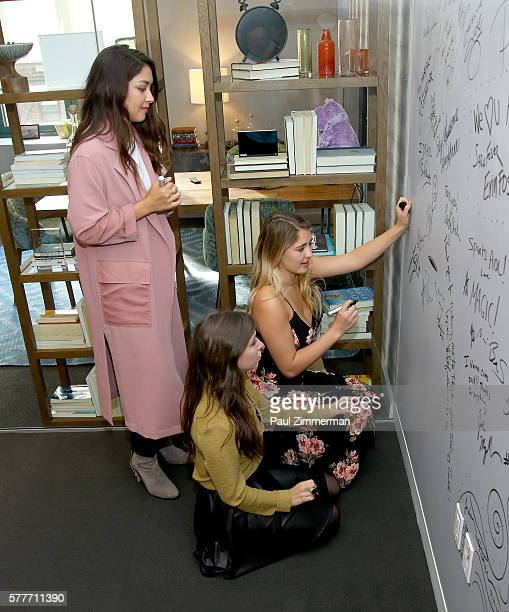 Katelyn Nacon Lulu Antariksa and Lia Marie Johnson attend the AOL Build Speaker Series to discuss go90's 11part thriller 'T@gged' at AOL HQ on July...