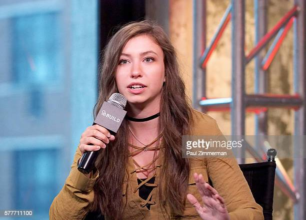 Katelyn Nacon speaks onstage at AOL Build Speaker Series to discuss go90's 11part thriller 'T@gged' at AOL HQ on July 19 2016 in New York City