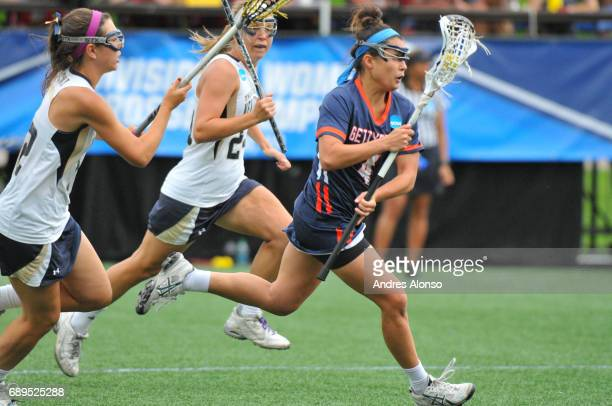 Katelyn Neillands of Gettysburg College races down the field during the Division III Women's Lacrosse Championship held at Kerr Stadium on May 28...