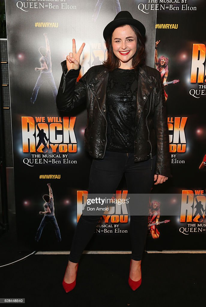 Kate-Marie Houlihan arrives ahead of We Will Rock You Opening Night at Lyric Theatre, Star City on May 5, 2016 in Sydney, Australia.