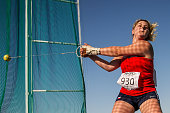 Kateria Skypalova of Czech Republic competes in the Girls Hammer Throw final during European Athletics Youth Championships on July 16 2016 in Tbilisi...
