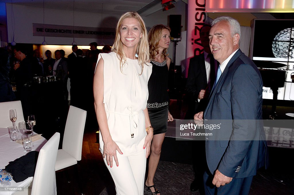 Katerina Schroeder and Hans Reiner Schroeder attend the 'BMW Golf Cup International 2013 - Charity Gala' at BMW Berlin on June 29, 2013 in Berlin, Germany.