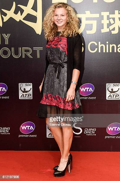 Katerina Siniakova of the Czech Republic arrives at the 2016 China Open Player Party at The Birds Nest on October 3 2016 in Beijing China