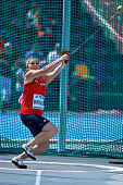 Katerina Skypalova from Czech Republic competes in women's hammer throw qualification during the IAAF World U20 Championships at the Zawisza Stadium...