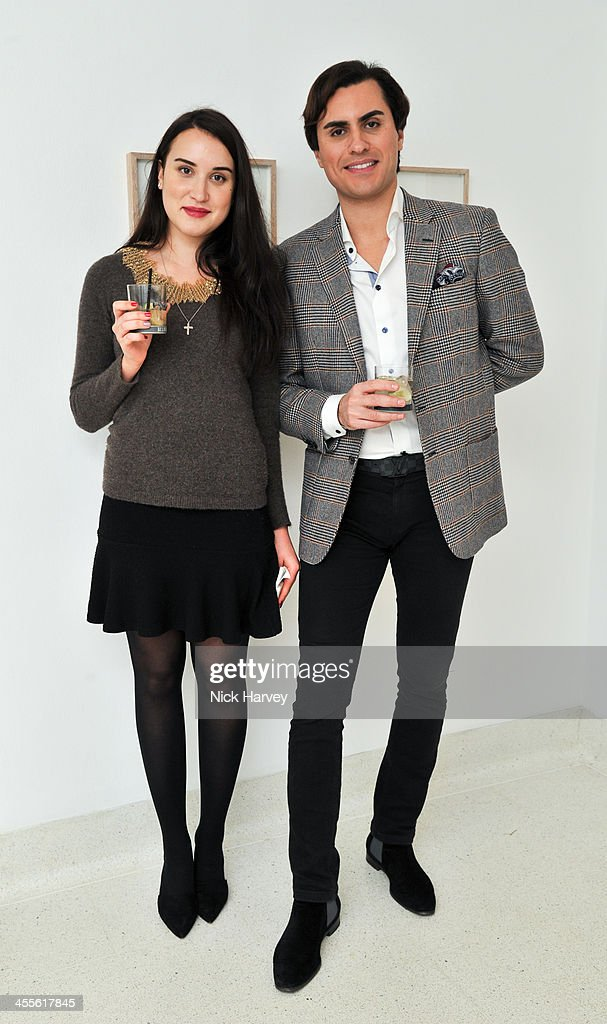 Katerina Soloukhina and Raef Bjayou attend 'The Artists' Colouring Book of ABCs' Launch event at The Serpentine Gallery on December 12, 2013 in London, England.