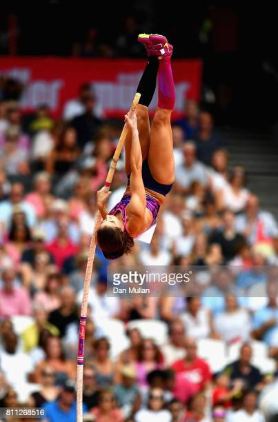 Katerina Stefanidi of Greece competes in the Women's Pole Vault during the XXXX during the Muller Anniversary Games at London Stadium on July 9 2017...