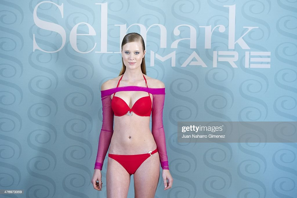 Katerina Strygina presents the new Selmark swimwear collection at Circulo de Bellas Artes on March 6, 2014 in Madrid, Spain.