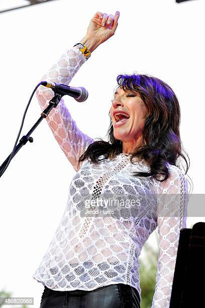 Katey Sagal and the Forest Rangers perform at the 2014 Stagecoach Country Music Festival at The Empire Polo Club on April 25 2014 in Indio California