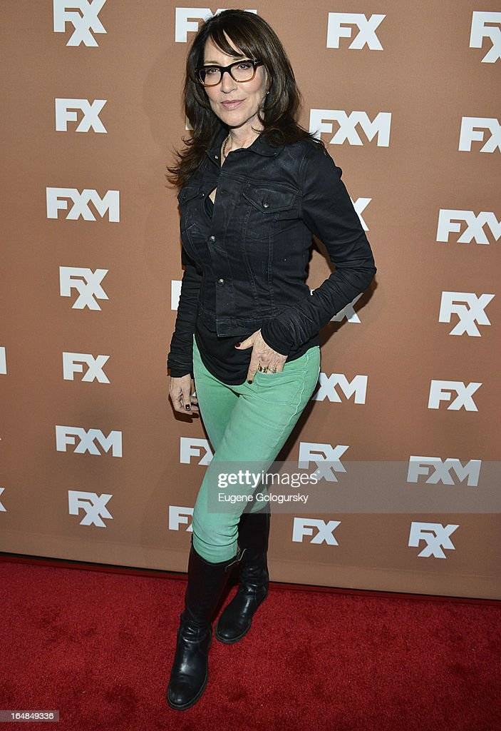 <a gi-track='captionPersonalityLinkClicked' href=/galleries/search?phrase=Katey+Sagal&family=editorial&specificpeople=221480 ng-click='$event.stopPropagation()'>Katey Sagal</a> attends the 2013 FX Upfront Bowling Event at Luxe at Lucky Strike Lanes on March 28, 2013 in New York City.