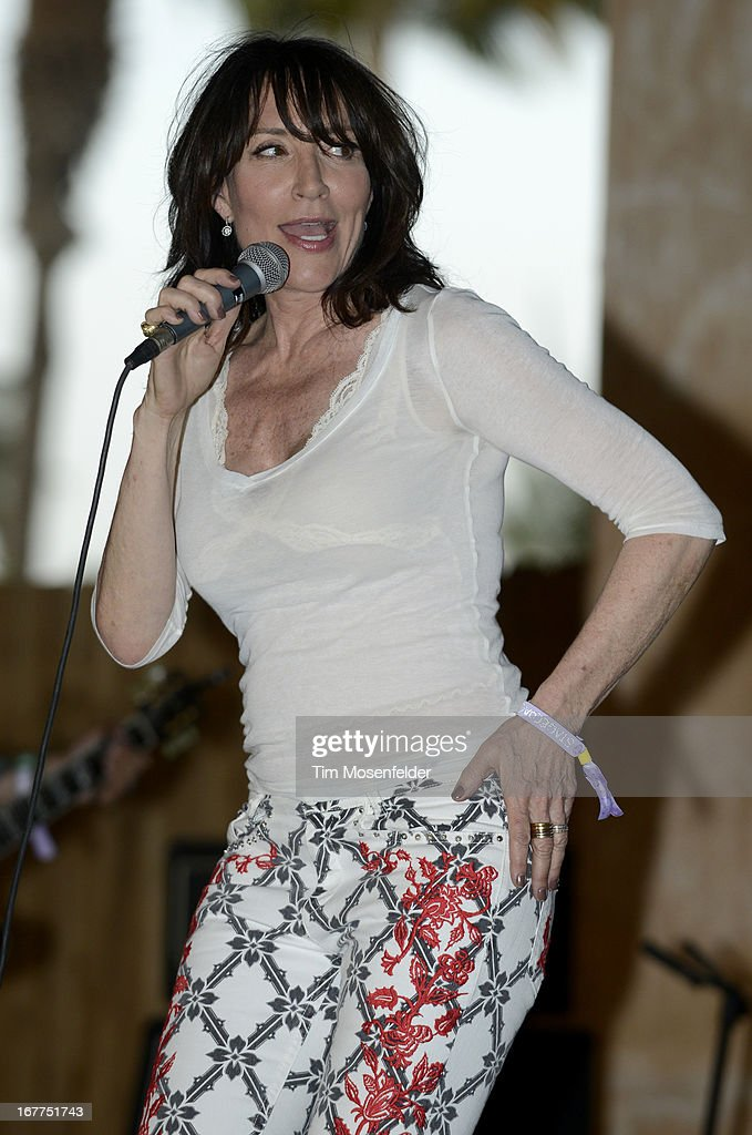 Katey Sagal of Katey Sagal and the Forest Rangers performs as part of the Stagecoach Music Festival at the Empire Polo Grounds on April 28, 2013 in Indio, California.