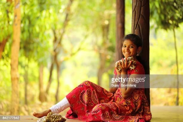 Kathak Dancer Holding Ghungroo