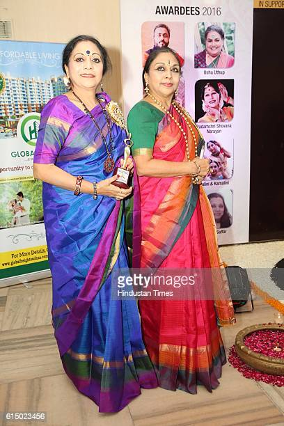 Kathak dancers Nalini and Kamalini during the musical night organized to salute the success of inspiring women on October 6 2016 in New Delhi India...