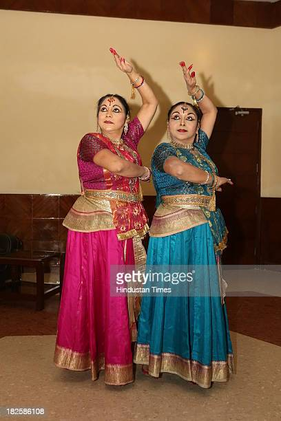 Kathak dancing duo NaliniKamalini perform during finale of Talent Hunt Show organized in the memory of Late singer Master Madan at Sirifort...