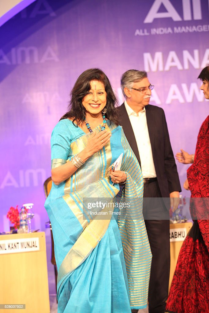 Kathak exponent Shovana Narayan during the All India Management Association (AIMA)s Managing India Awards 2016 at Hotel Taj Palace in New Delhi, India.