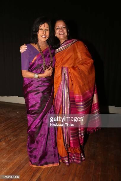Kathak exponent Shovana Narayan with Shruti Gupta Chandra during the Kathak show organised to celebrate World Dance Day on May 2 2017 in New Delhi...